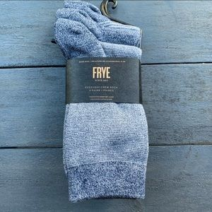 New Frye socks 3 pack fits shoe size 5 -10